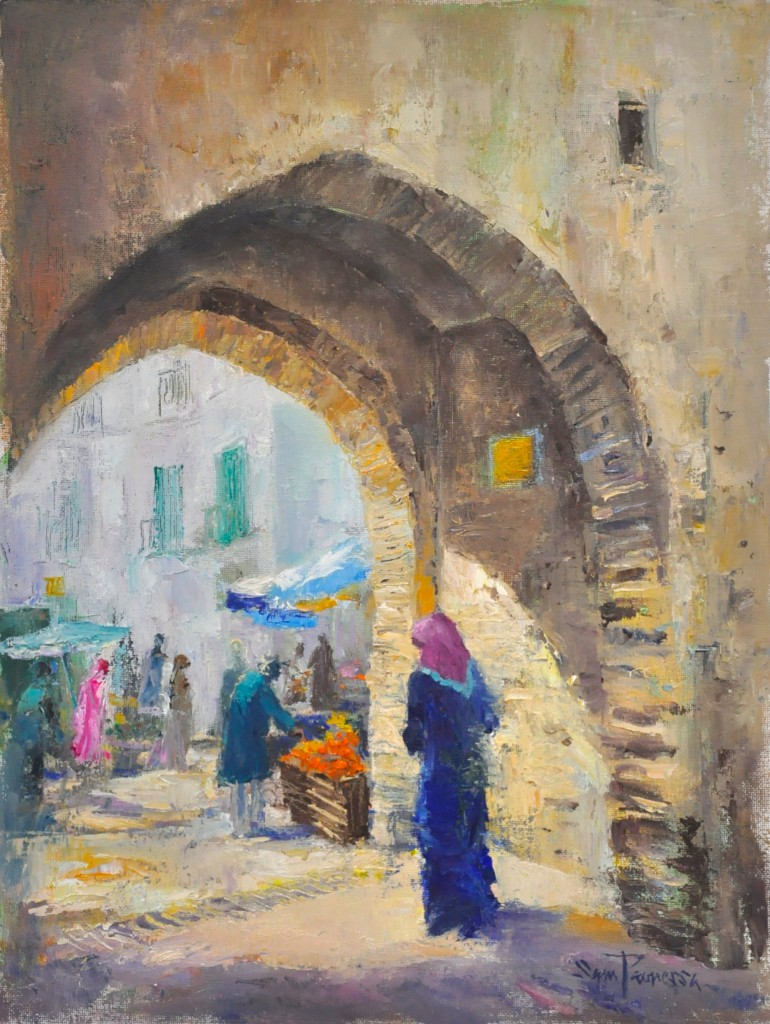 Bab Tut, Tetouan - oil on canvas by Sam Paonessa 2014