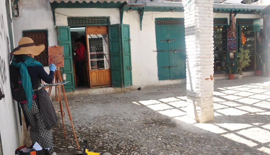 Sook Chang painting in Tetouan's Medina