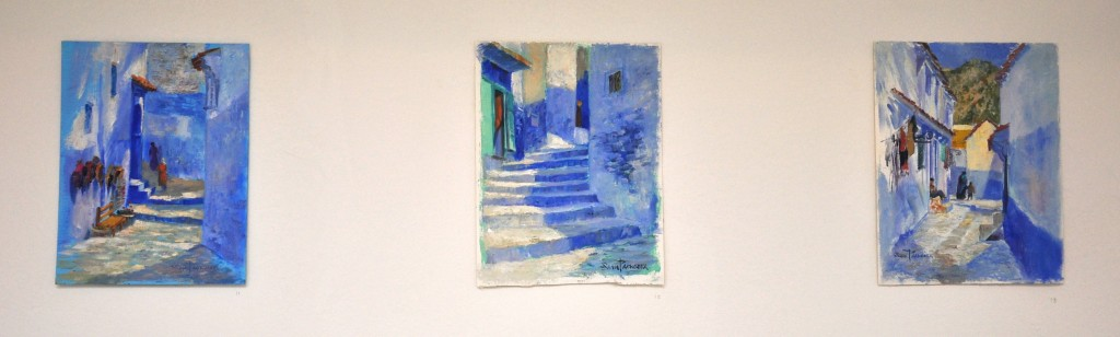 3 Paintings from Chefchaouen by Sam Paonessa