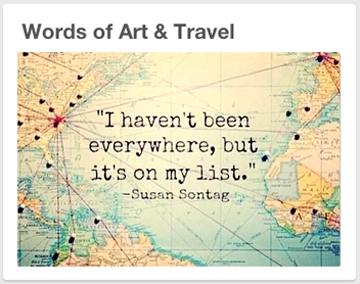 Words of Art & Travel