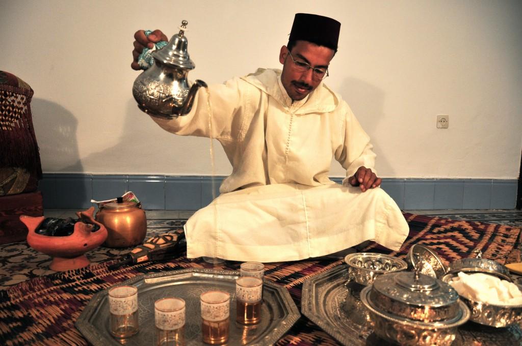 Chahaboun pouring tea