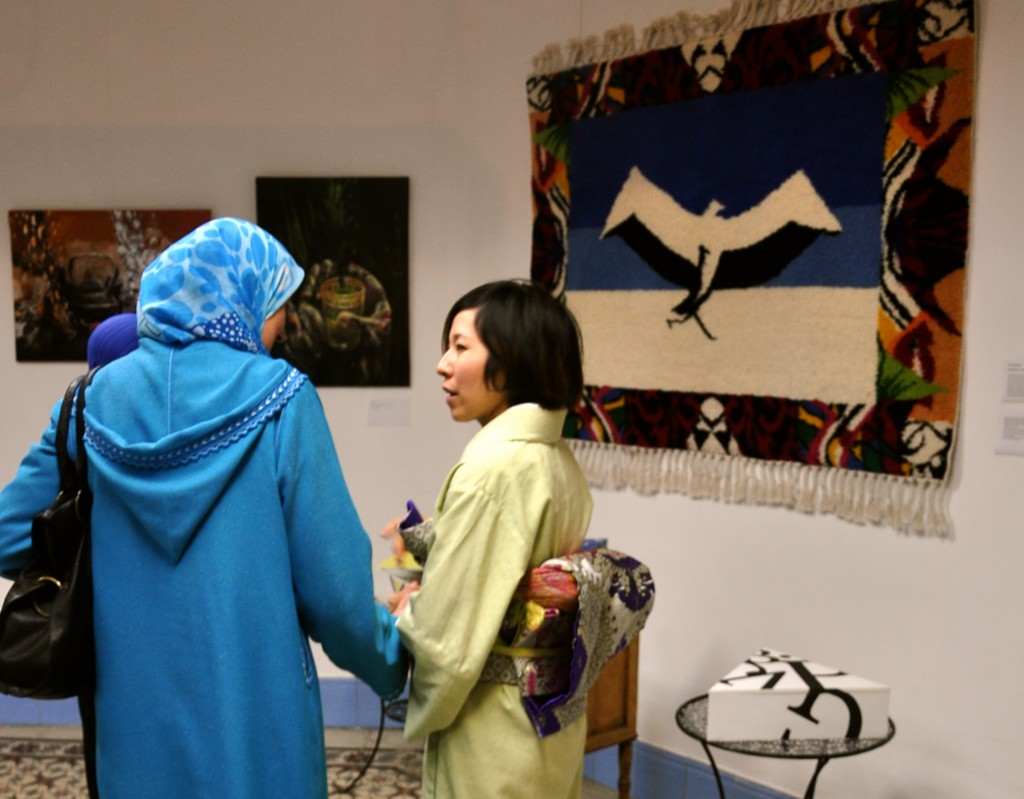 Weavers and the Orinotawashi carpet