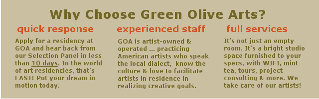 Why choose Green Olive Arts? Quick response, experienced staff, and full services!