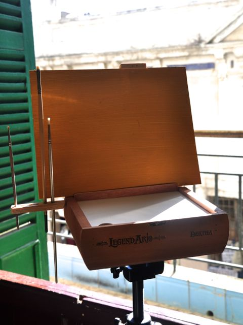 Pochade Box - set up