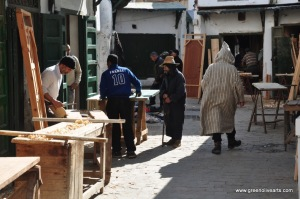 Tetouan – carpenters section in medina