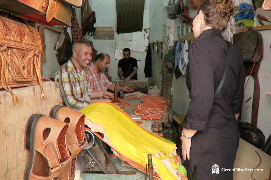 Leather Smith In Tetouan, Morocco