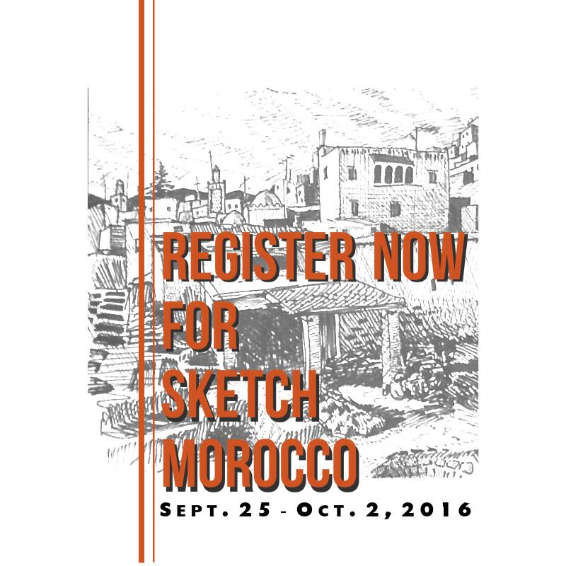 Sketch Morocco trip, Sept. 2016