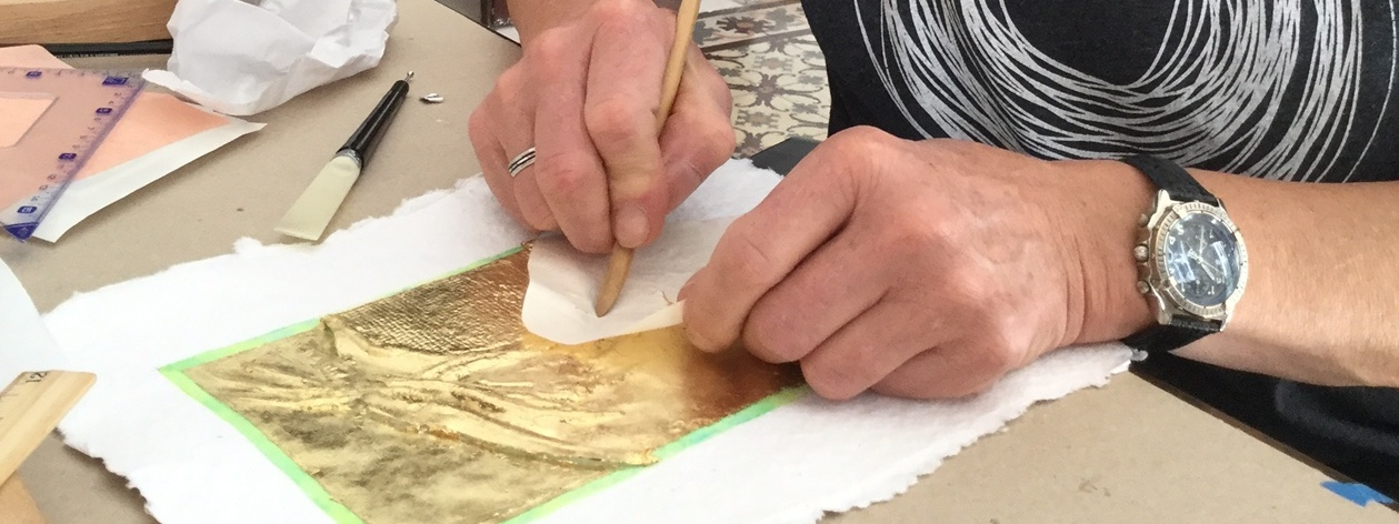 Peter Mallen working at Green Olive Arts